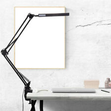Long Arm Desk Lamp Work Reading Adjustable Folding Clip-on LED Table Light Lamp