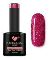 VB-2685 VB™ Line Hot Pink Glitter Saturated - UV/LED soak off gel nail polish