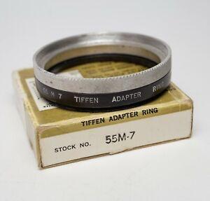 Tiffen Series VII (7) 55mm Screw In Adapter Ring w/Retaining Ring