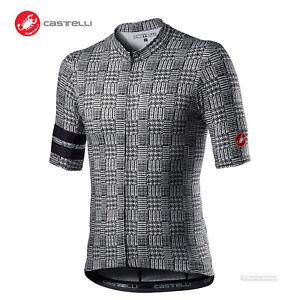 NEW 2021 Castelli MAISON Short Sleeve Cycling Jersey : BLACK/WHITE