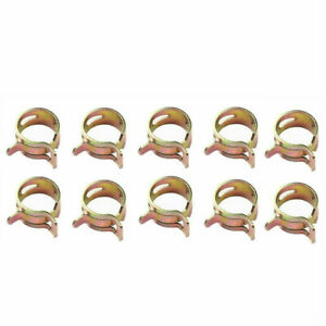 50Pcs Fuel Line Hose Spring Clip Water Pipe Air Tube Clamp Fastener 6/8/10mm