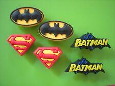 JIBBITZ CLOG CHARMS FIT CROCS HOLEY SANDALS WRISTBANDS 6 BATMAN SUPERMAN