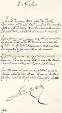 """JULES DE MARTHOLD / Poème autographe """" LE 2 NOVEMBRE """" 1904"""