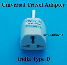 Universal GB EU USA AUS convert to India Sri Lanka Type D AC Power Plug Adapter