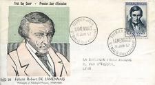 FRANCE FDC - 206 1111 1 FELICITE ROBERT DE LAMENNAIS - 15 6 1957
