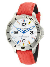 NAUTICA $125 BFD 101 Red Diver Flag Sports Watch N12567G NEW