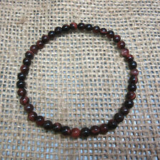 5mm Red Tiger Eye Stretch Bead Bracelet  - Fast Free US Shipping