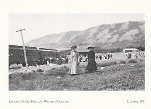 """Laramie, North Park & Western Railroad"" *Laramie, WY, (Postcard) (A45-1)"