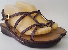 CIRCA JOAN & DAVID Brown Leather Slingback Sandals Women's Shoes Sz 9 1/2 M