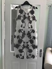 next dress size 12 Petite White Grey