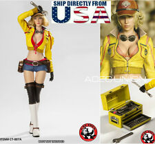 1/6 Cindy Aurum Car Mechanic Final Fantasy XV Set For Hot Toys Phicen Figure USA