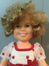 "Vintage 1972 Ideal SHIRLEY TEMPLE 16"" Doll - Red & White Polka Dot Dress"