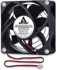 GDSTIME Cooling Fan DC 24V Brushless Industrial Fan 2 Pin PC Case Cooler Airflow