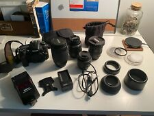 Nikon D D7000 16.2MP Digital SLR Camera - Black- COMES WITH 4 LENSES AND A FLASH