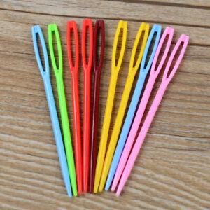 20Pcs 9cm+7cm Plastic Sewing Knitting Cross Stitch Darning Needles Mixed Colors