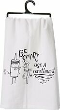 Primitives by Kathy Be Smart Use A Condiment Humor Kitchen Dish Towel NEW P25545