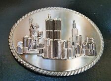 Statue Liberty Skyline Belt Buckle Buckles New York City Twin Towers Big Apple