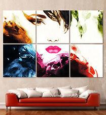 NEW ABSTRAKT 670 Leinwand Bild Kunstdruck Frau Aquarell Art Modern Pop Art XXXL