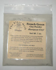 French Green Clay Powder - 1 oz. - 100% Pure - The Elder Herb Shoppe