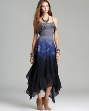 FREE PEOPLE Diaphanous Damsel Party  Maxi Dress Graphite Size 4/498$