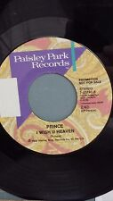 """PRINCE 45 RPM PROMOTIONAL Not for Sale record """"I Wish U Heaven"""" VG++ condition"""