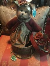 "Bearington Bears ""Autumn & Hat Box"" w/tags. Htf! 14"""