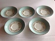 Barratt's Delphatic White Tableware China England 5 Small Plates