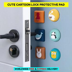 1pc Cartoon Door Lock Protective Pad Wall Protector Door Stopper Shockproof