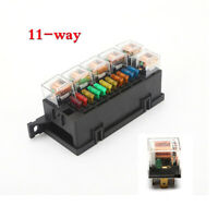 Universal Car Auto Modified Relay Fuse Box Kit w/11x Fuses+6x 5Pin 12V 80A Relay