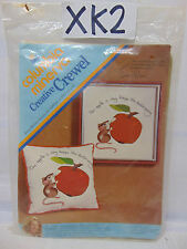 An Apple A Day Mouse Creative Crewel 1974 Erica Wilson Kit Columbia Minerva NOS
