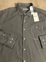 Tommy Bahama Twilly Check Long Sleeve Button Shirt Black NEW Men's 2XL $125