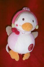 Doudou Musical Peluche Poussin Oiseau Rose Bon Voyage Babysun  22 cm