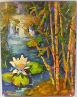 Nanette Oleson Listed ORIG Modern Impressionist Botanical  Oil Painting  24 x 30