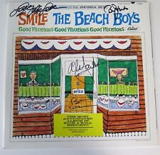 "Brian Wilson THE BEACH BOYS Signed Autograph ""SMiLE"" Album LP by All 4 Mike Love"