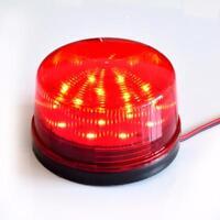 12V Security Alarm Strobe Signal Safety Warning Red Flashing LED  Light EA7X
