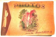 Vintage 1944 Yosemite Photo Album w/ 11 Camp Curry Menus (Item#EJ82)