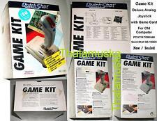 Game Kit Deluxe Analog Joystick+ ISA Card QuickShot QS-123ES.New Sealed.PC.DB15