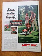 1957 Lawn Mower Ad Lawn-Boy Automower 1957 GE Thinline Air Conditioner Ad