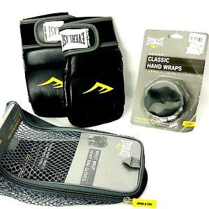 Everlast Wrist Wrap  Bag Gloves Level  II Cardio Boxing Model 4301SM + Hand Wrap