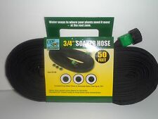 Lot of 2 Garden SOAKER Water HOSES 100 FT Heavy Duty Hose FLAT (SALE) USA SELLER