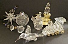 Lot of 7 Christmas Ornaments Clear