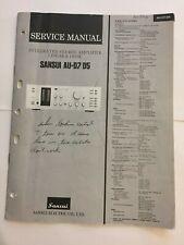 SANSUI AU-D7 AU-D5 AMPLIFIER ORIGINAL SERVICE REPAIR MANUAL