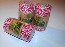 NEU! 100 m Baumwollkordel rot weiß COOKING YARN Band Kordel für Schilder Stempel