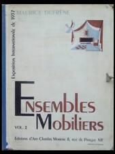 ENSEMBLES MOBILIERS, VOL. 2 - 1937 - CHARLES MOREAU - ART DECO, SOGNOT ADNET