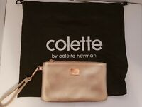 Colette metallic pink Wristlet clutch bag purse