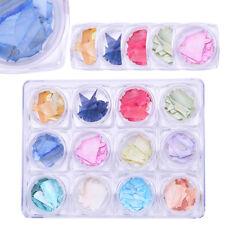 Harunouta 12 Colors/Set Crushed Shell Nail Art Decoration Irregular Flakes DIY