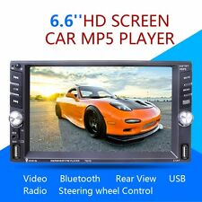 """6.6""""Touch Screen 2DIN Bluetooth FM Radio Stereo Player W/ Rear Cam USB TF AUX-IN"""