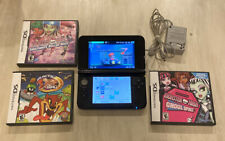 Nintendo 3DS XL Blue Handheld System Bundle charger, 16gb sd card, 9 games