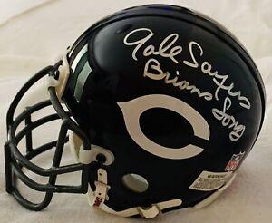 Gale Sayers, Billy Dee Williams, James Caan Signed NFL Bears Mini-Helmet Tristar