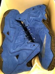 Nike LeBron XI 11 EXT SUEDE QS 656274 440 2014 NWDS 2018 Warriors